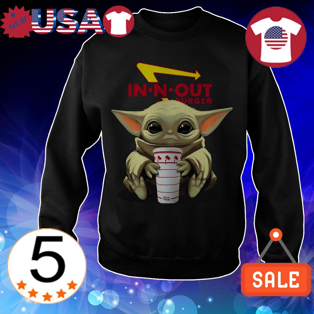Star Wars Baby Yoda hug In n Out Burger shirt