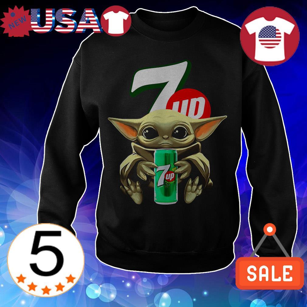 Star Wars Baby Yoda hug 7up shirt
