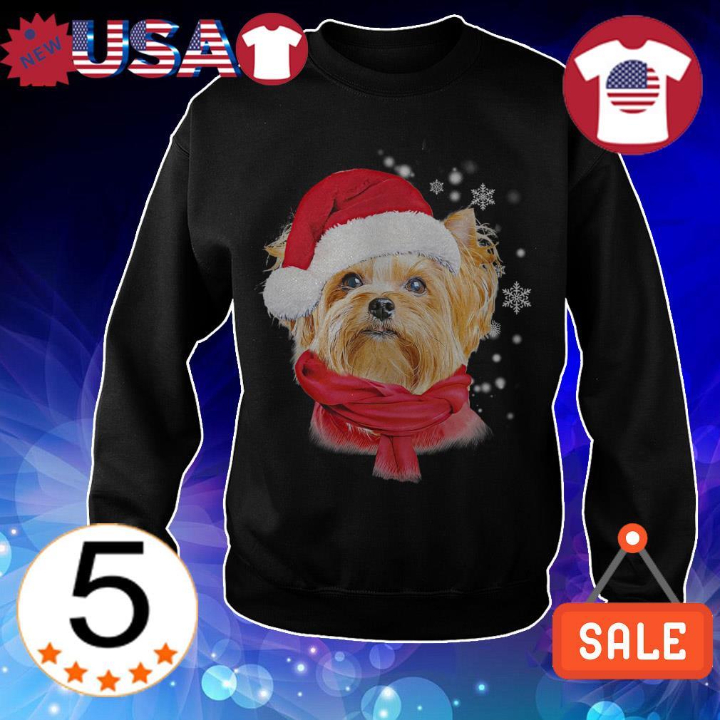 Yorkshire terrier red Crewneck Christmas sweatshirt