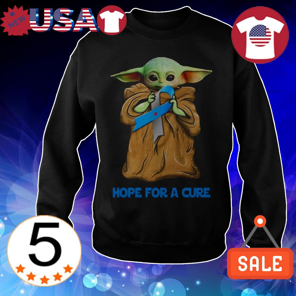 Star Wars Baby Yoda hope for a cure shirt