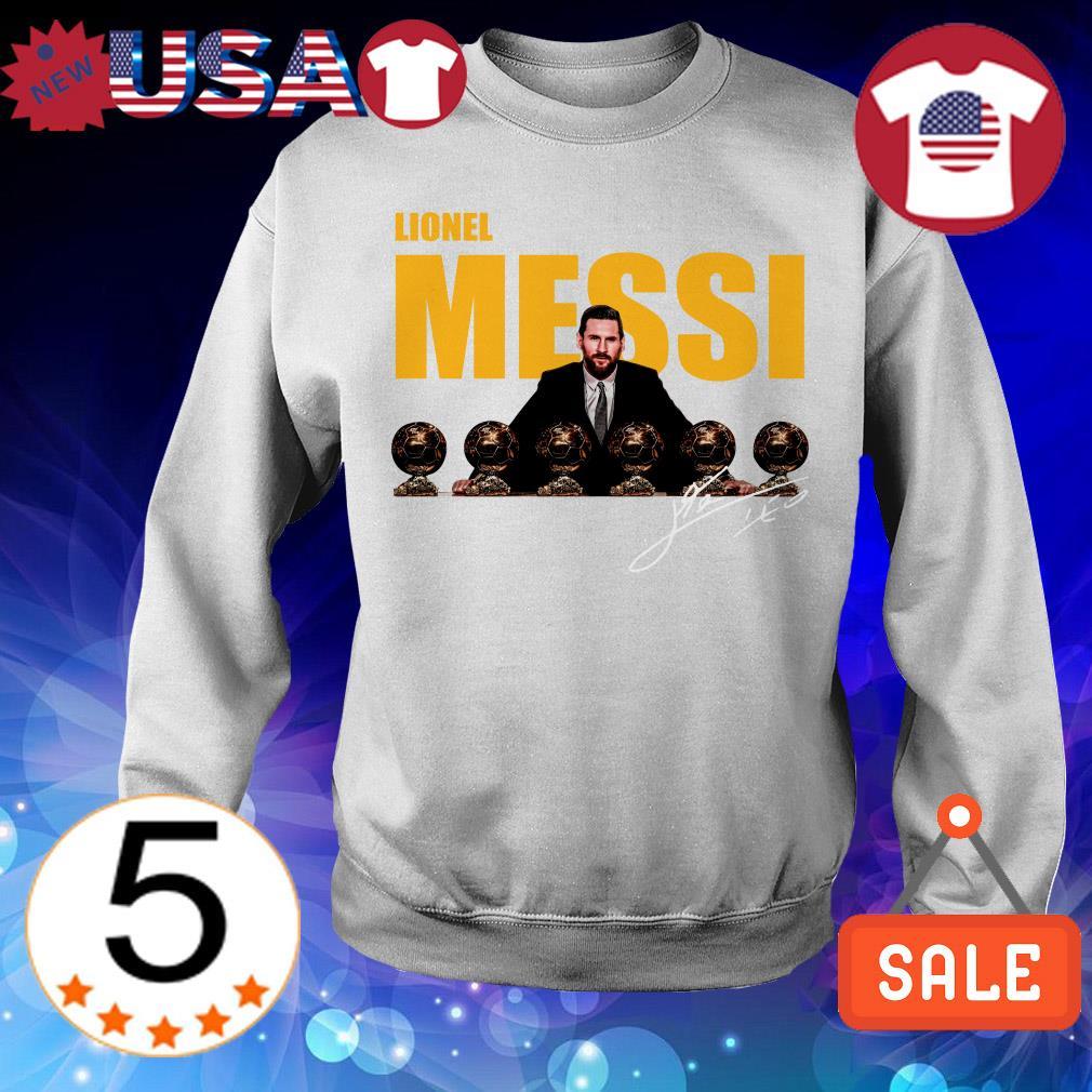 Lionel Messi sixth Golden Ball signature shirt