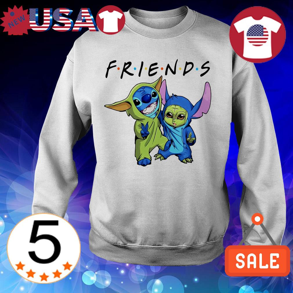 Baby Stitch and Baby Yoda Friends TV Show shirt