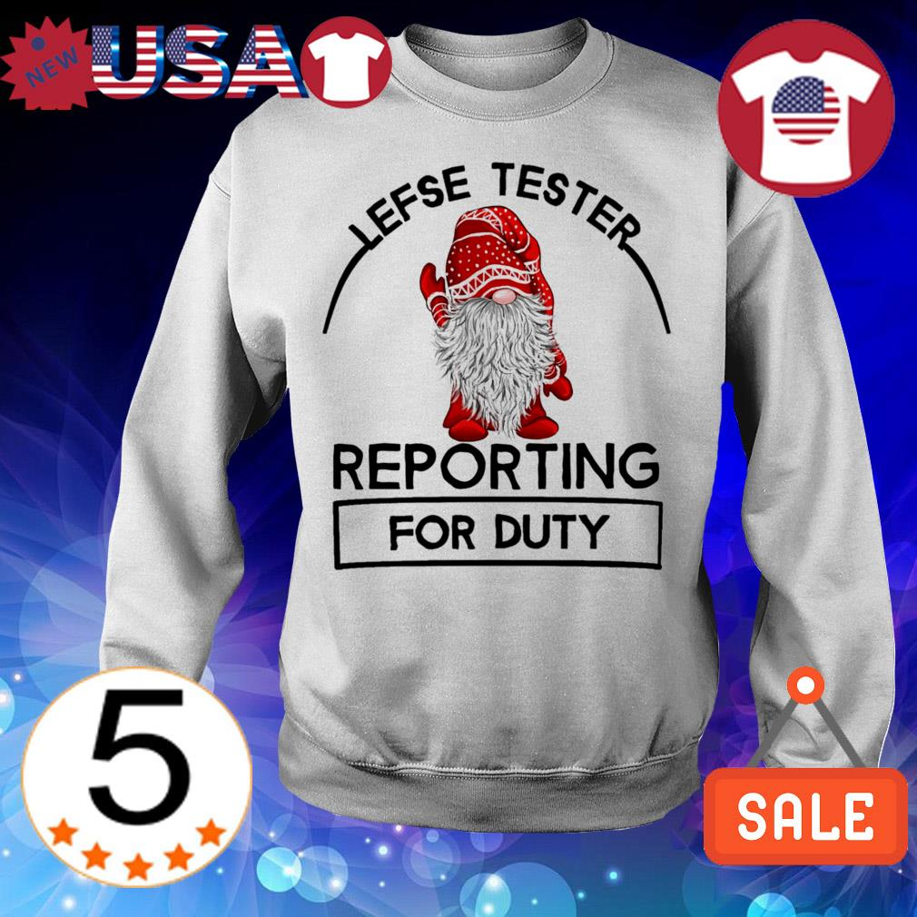 Lefse Tester reporting for duty Christmas sweater