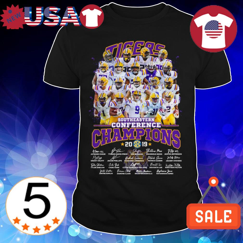 LSU Tigers Southeastern Conference 2019 team players signatures shirt
