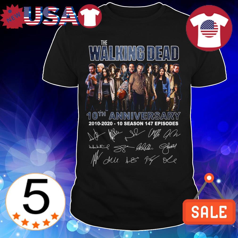 The Walking Dead 10th anniversary 2010 2020 10 season 147 episodes shirt