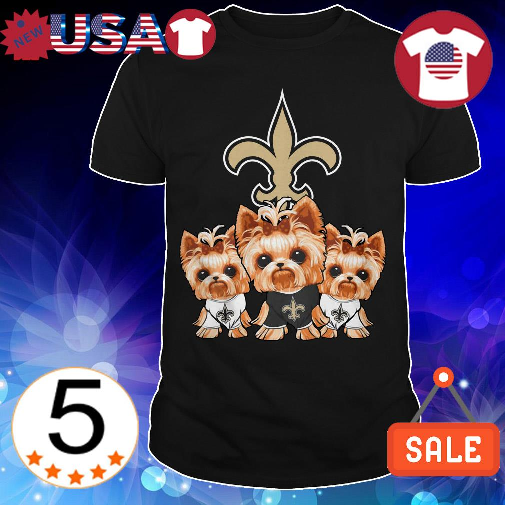 New Orleans Saints Yorkshire Terrier shirt