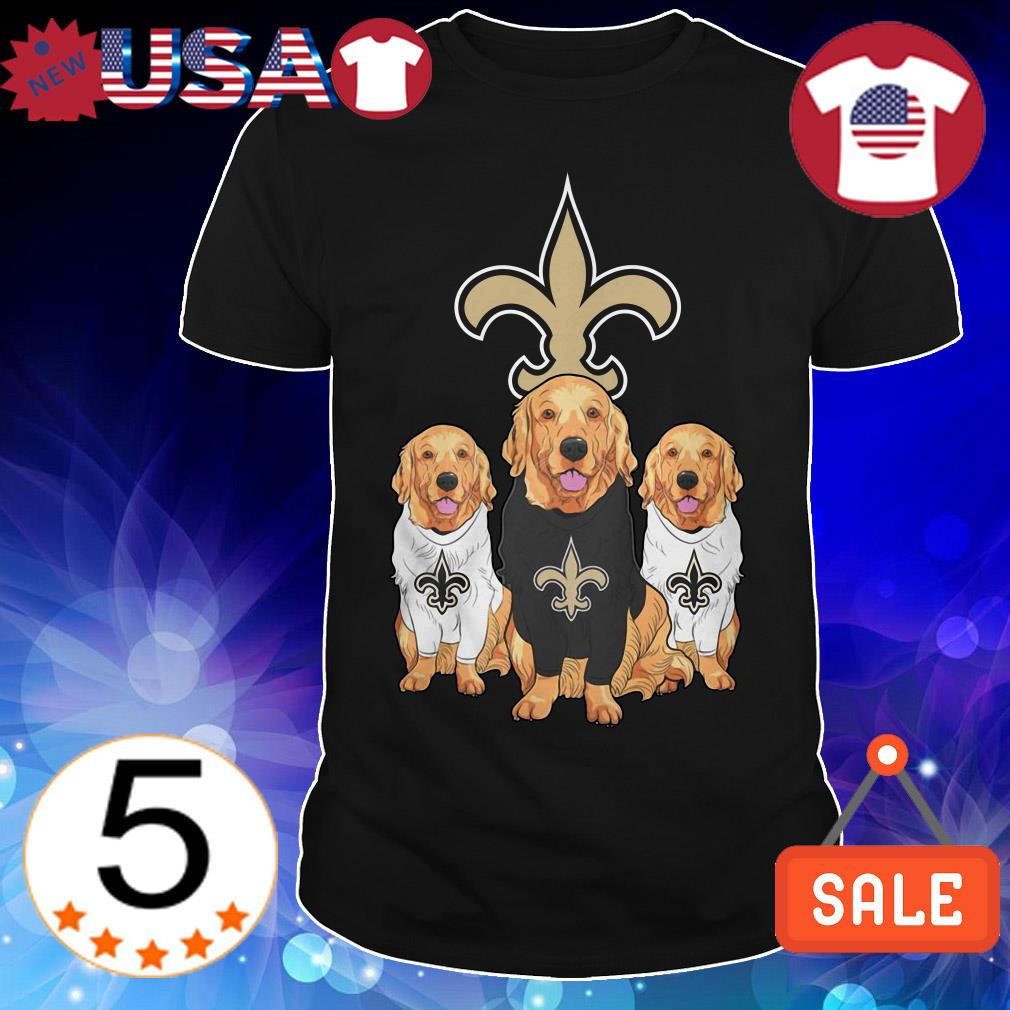 New Orleans Saints Labradoodle shirt