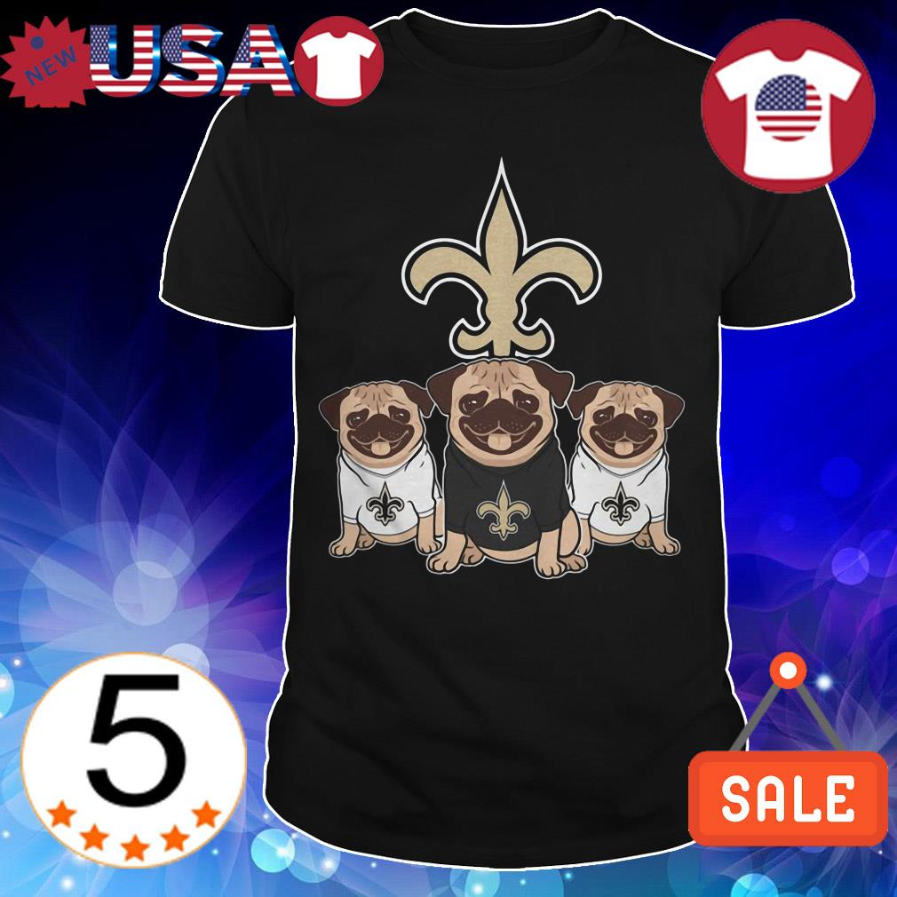 New Orleans Saint Pug shirt