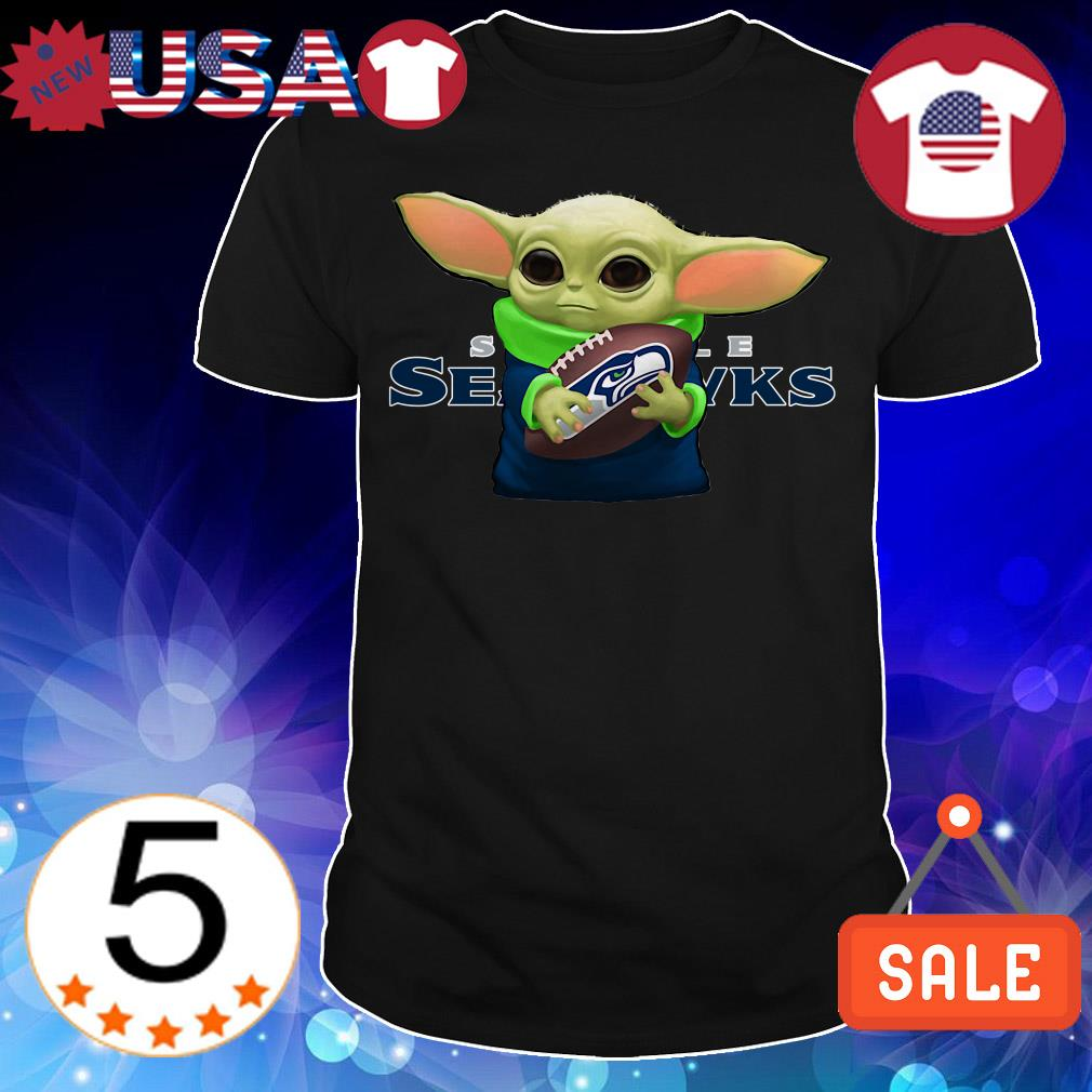 Star Wars Baby Yoda hug Seattle Seahawks shirt