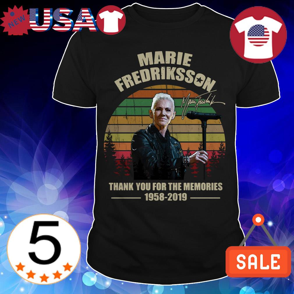 Marie Fredriksson thank you for the memories 1958 2019 signature vintage shirt