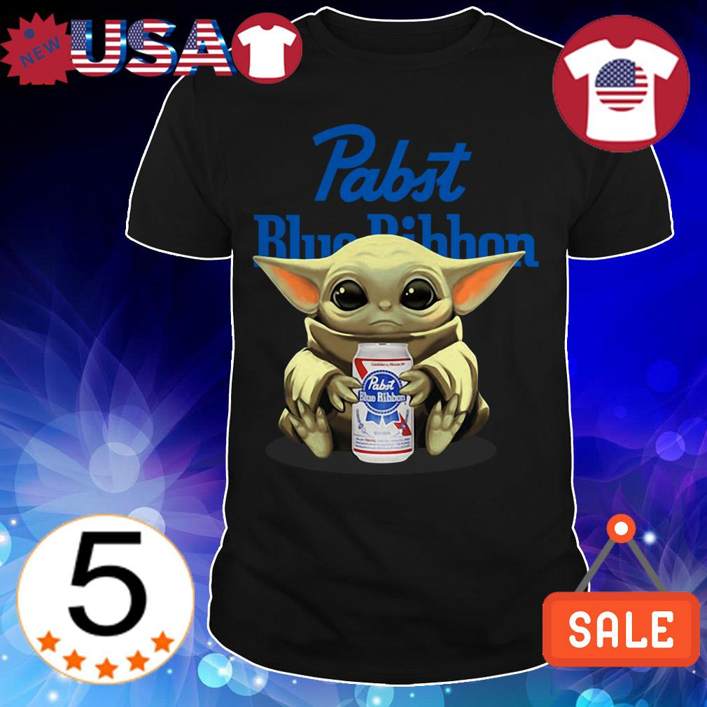 Star Wars Baby Yoda hug Pabst Blue Ribbon Beer shirt