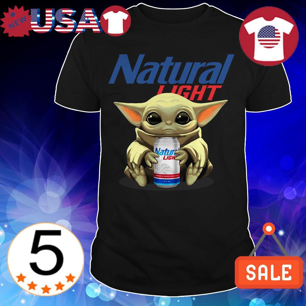 Star Wars Baby Yoda hug Natural Light Beer shirt