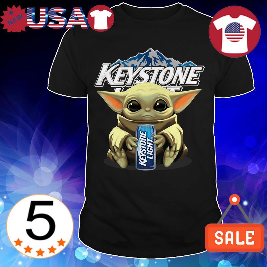 Star Wars Baby Yoda hug Keystone Light Beer shirt