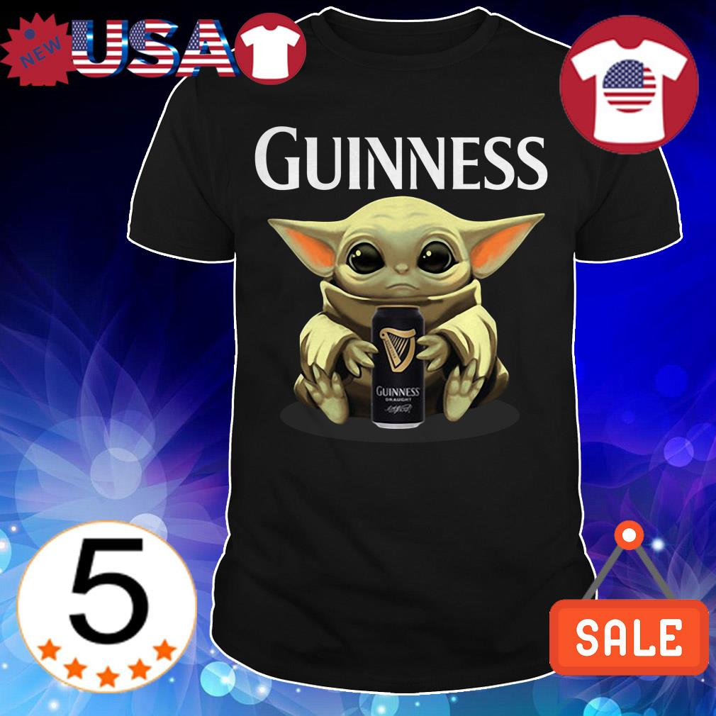 Star Wars Baby Yoda hug Guinness Beer shirt