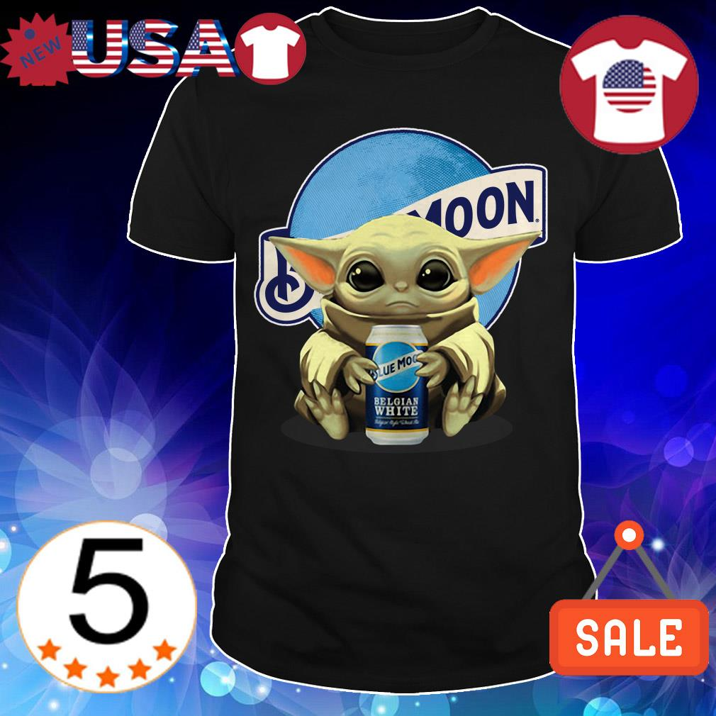 Star Wars Baby Yoda hug Blue Moon Beer shirt