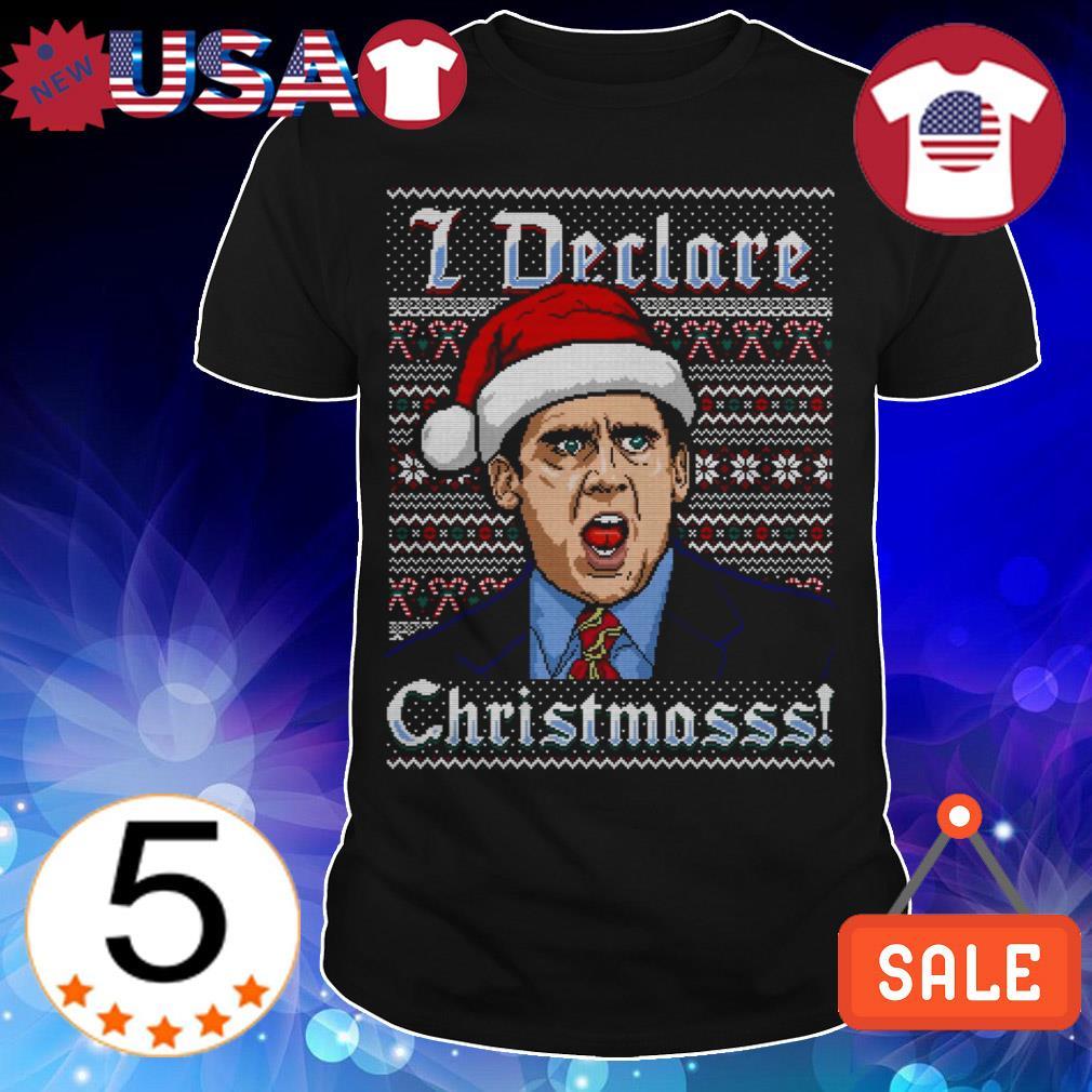 Michael Scott i declare Christmas sweater