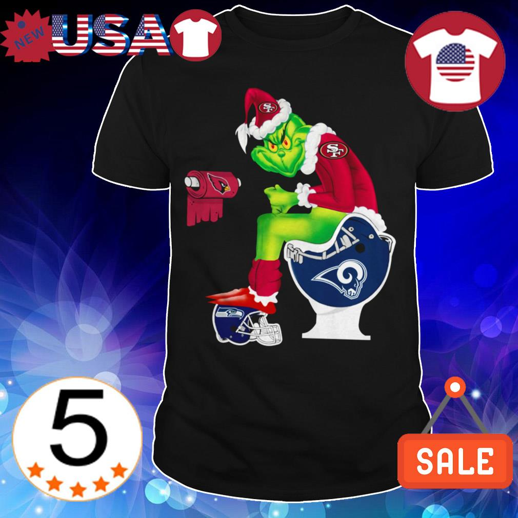 Los Angeles Rams Grinch toilet San Francisco 49ers Seattle Seahawks Christmas sweater