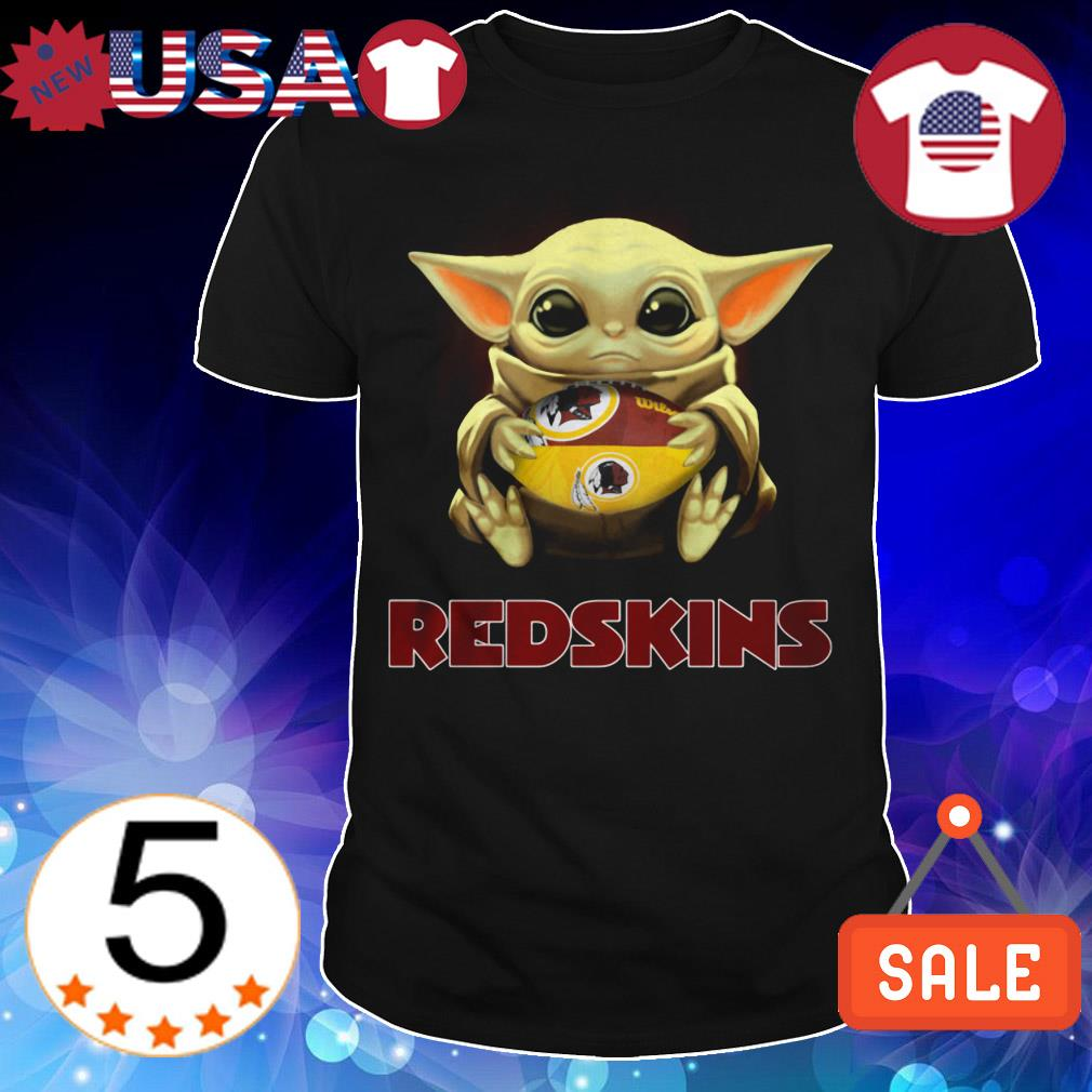 Star Wars Baby Yoda hug Redskins shirt