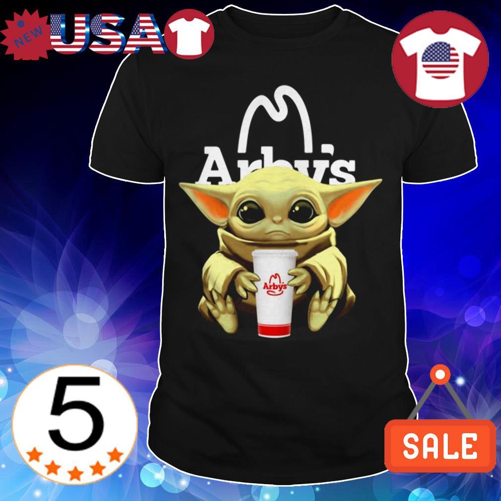 Star Wars Baby Yoda hug Arby shirt