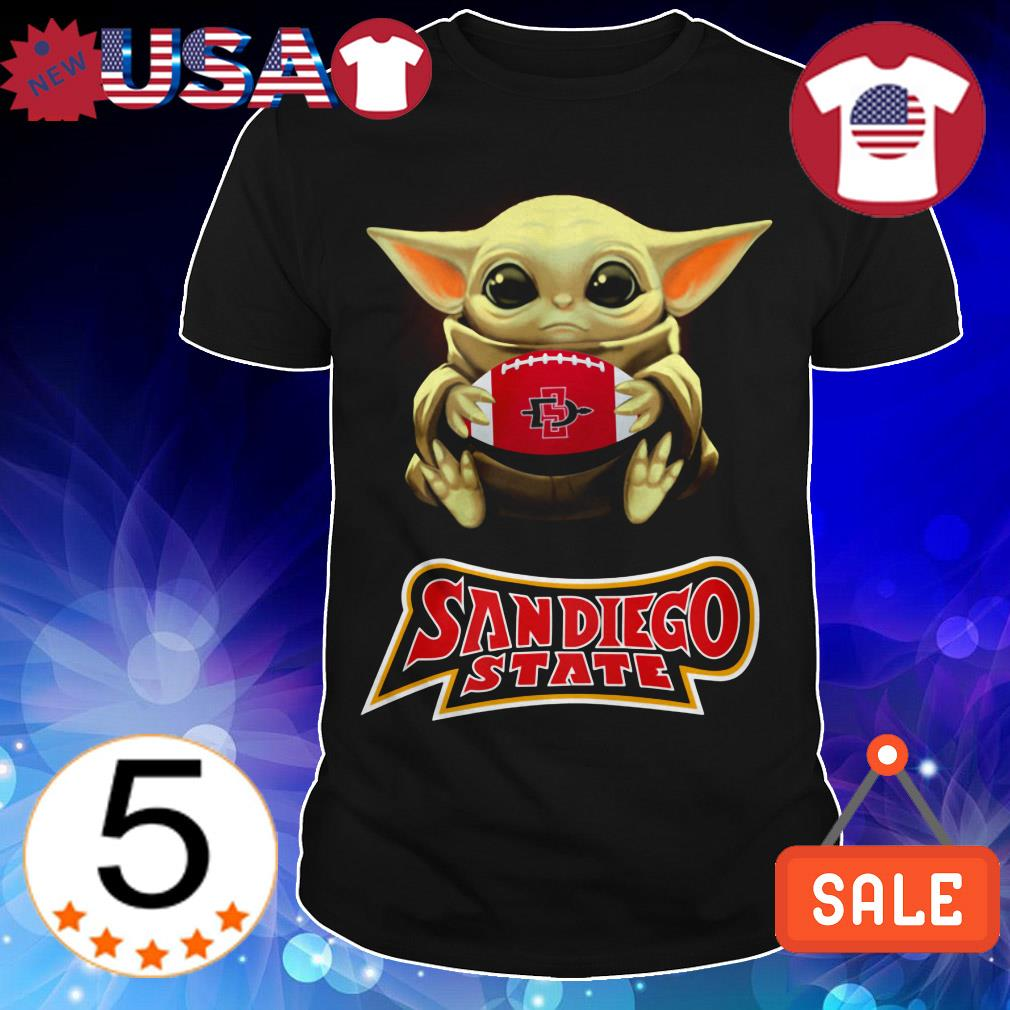 Star Wars Baby Yoda hug Sandiego State shirt