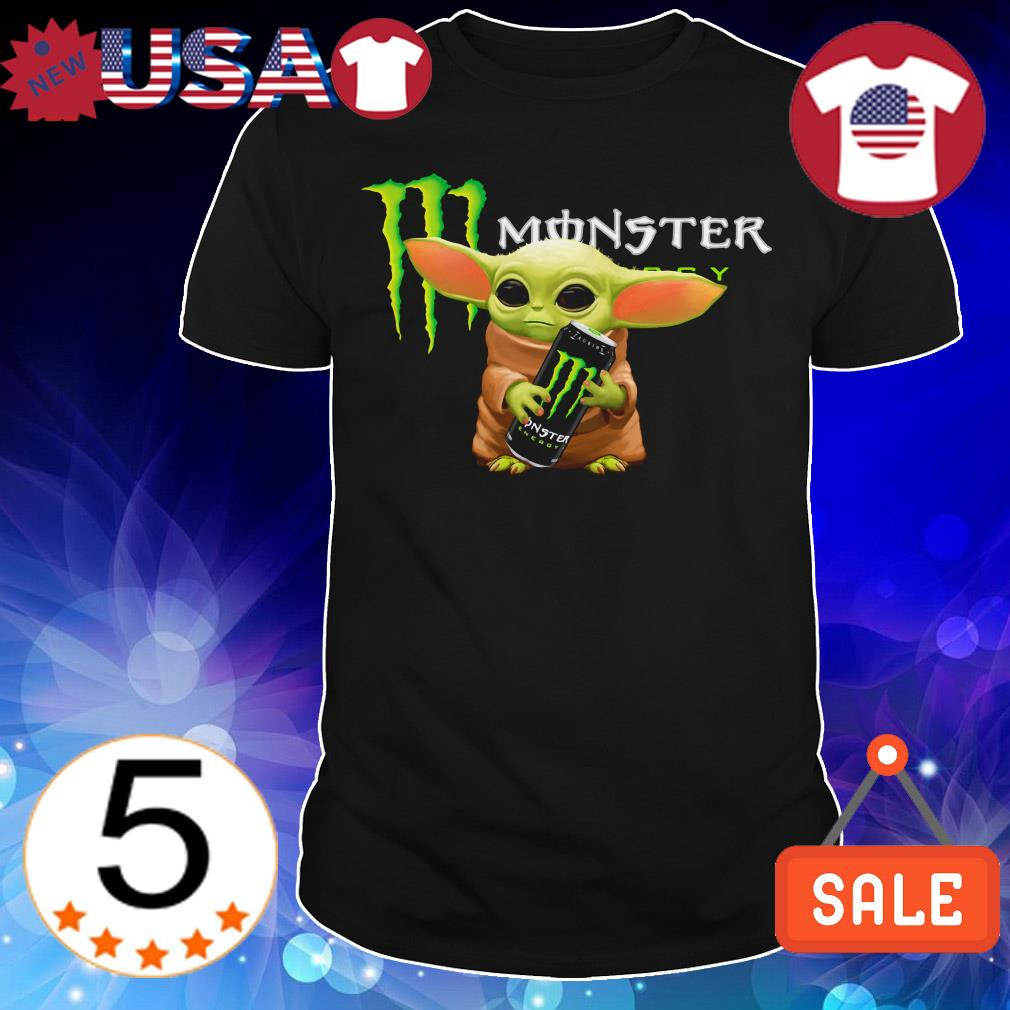 Star Wars Baby Yoda hug Monster Energy shirt