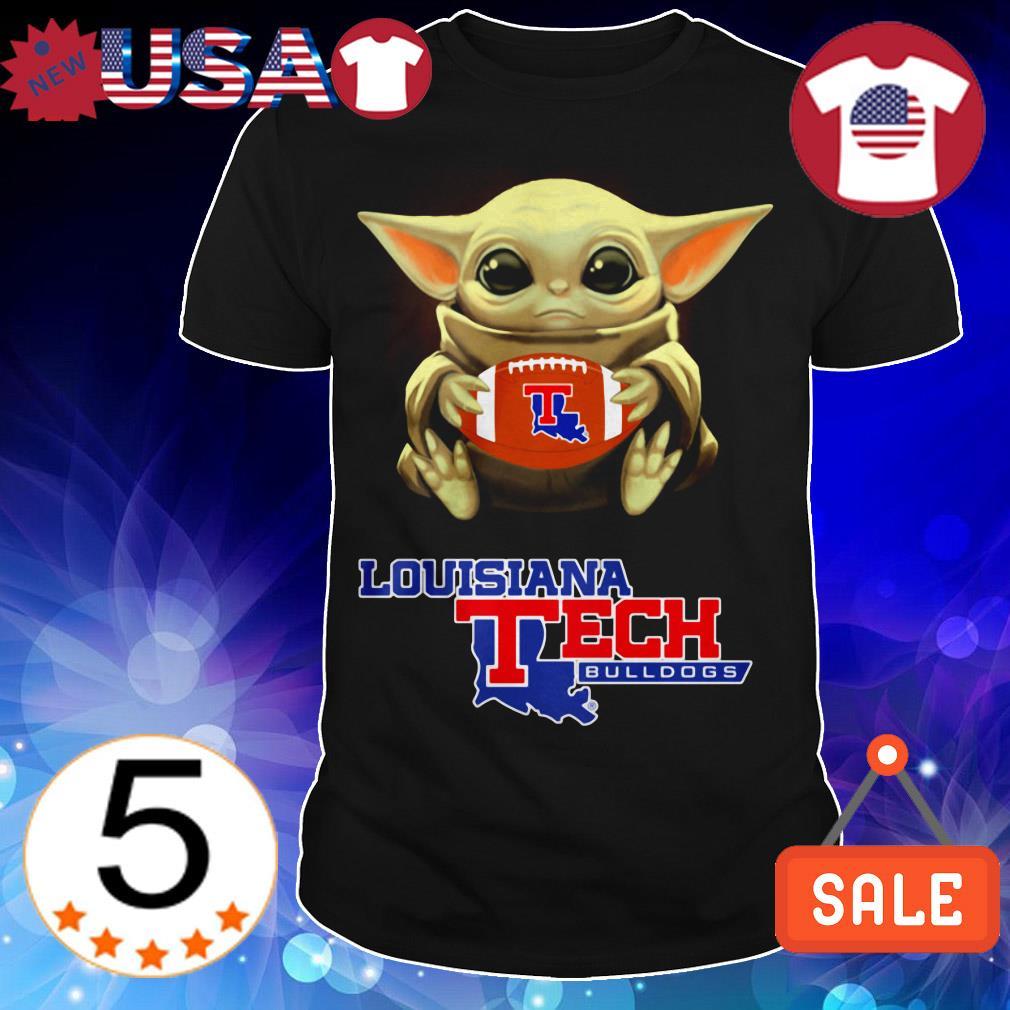 Star Wars Baby Yoda hug Louisiana Tech Bulldogs shirt