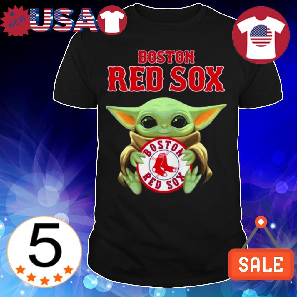 Star Wars Baby Yoda hug Boston Red Sox shirt