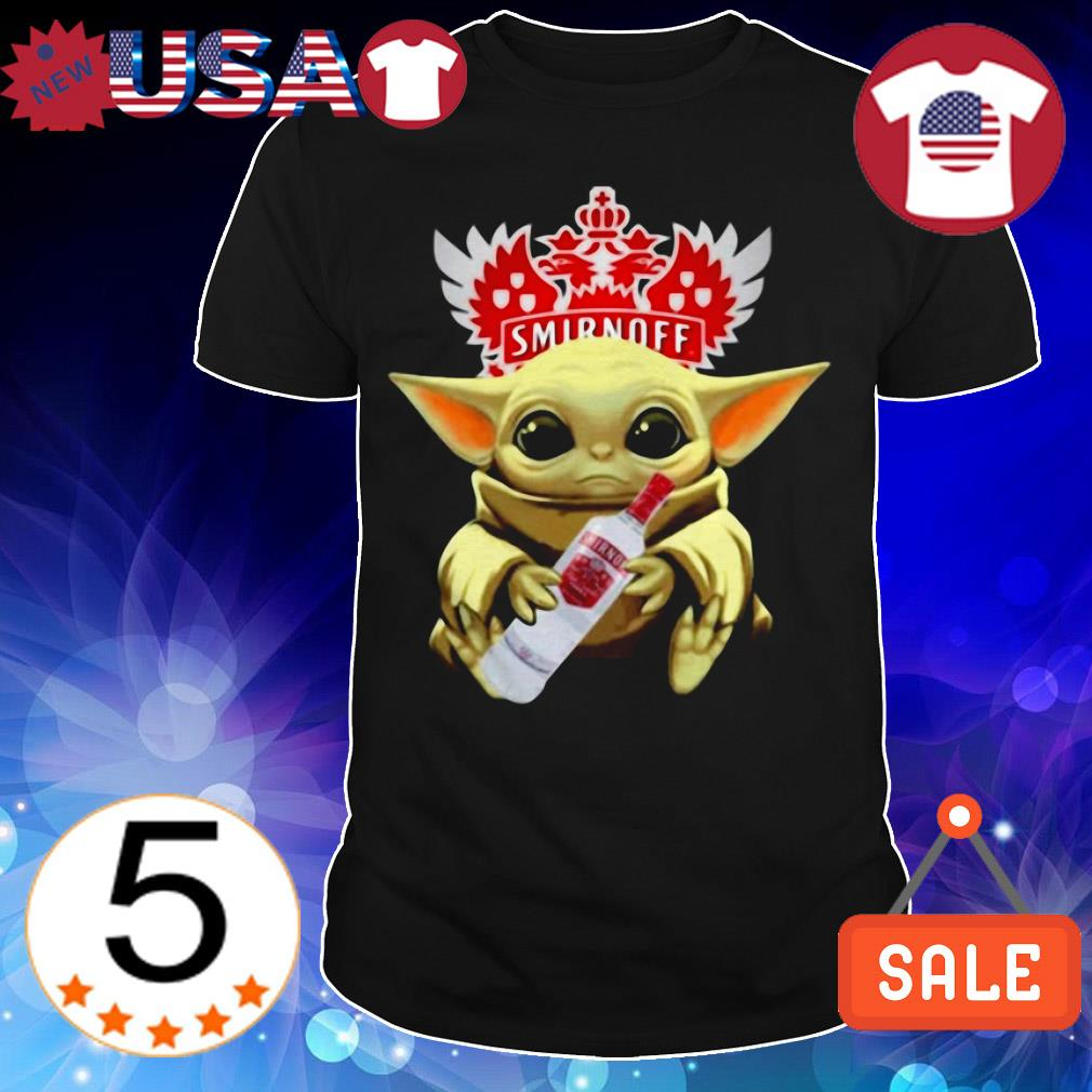 Star Wars Baby Yoda hug Smirnoff shirt