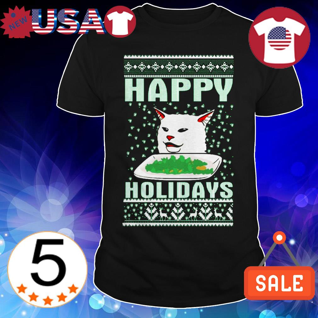 Cat happy Holidays shirt