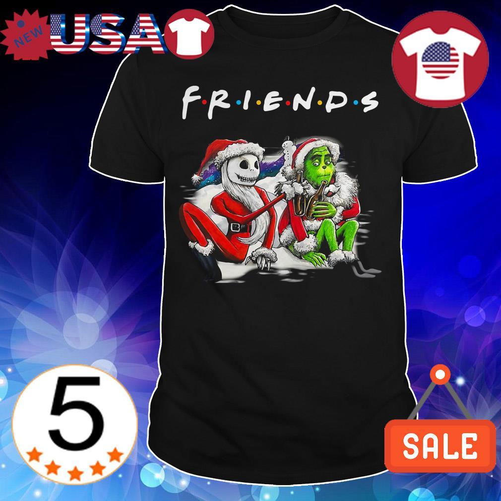 Santa Jack Skellington and Santa Grinch Friends TV Show Christmas sweatshirt