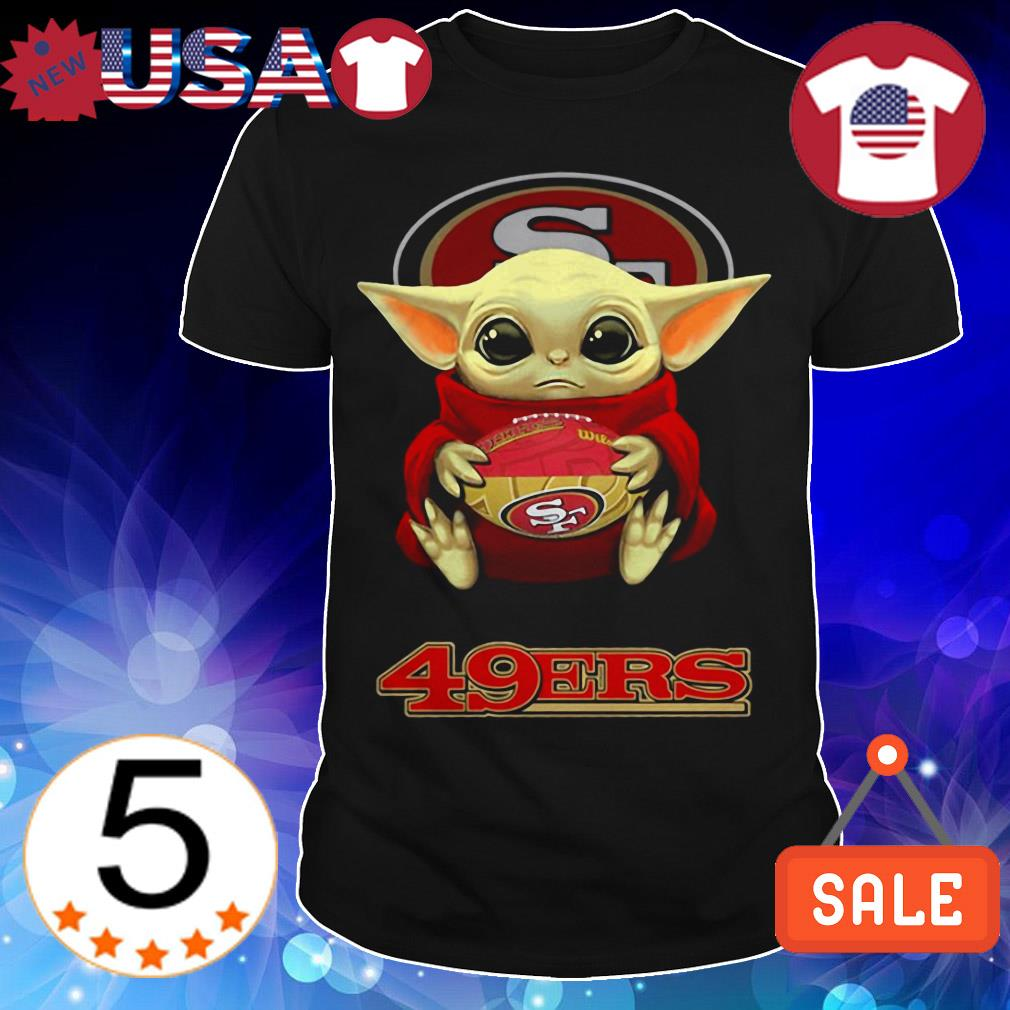 Official Star Wars Baby Yoda hug San Francisco 49ers shirt