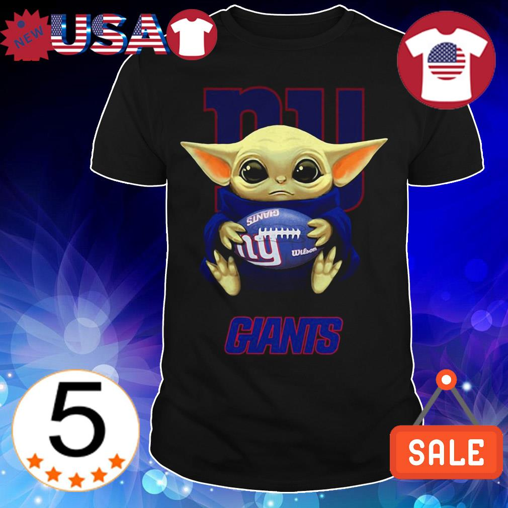 Official Star Wars Baby Yoda hug New York Giants shirt
