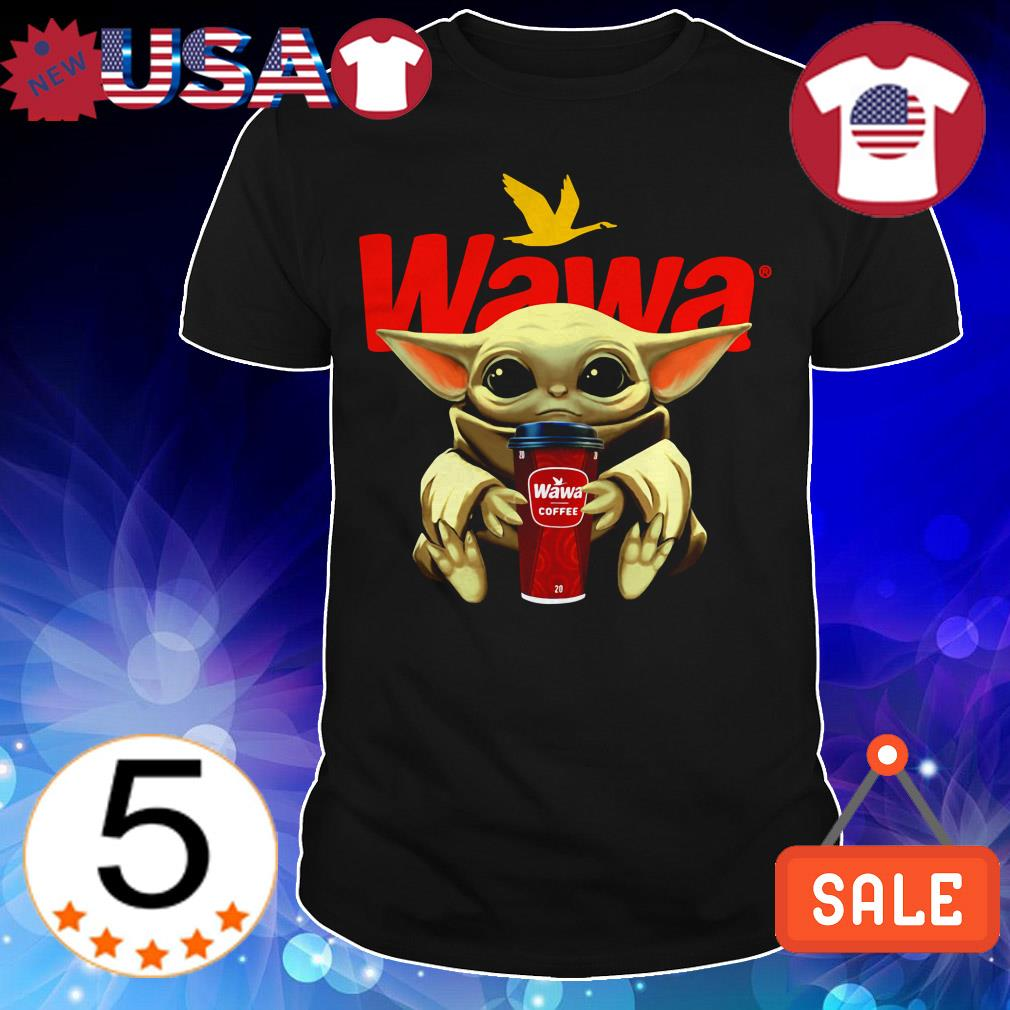 Star Wars Baby Yoda hug Wawa Coffee shirt