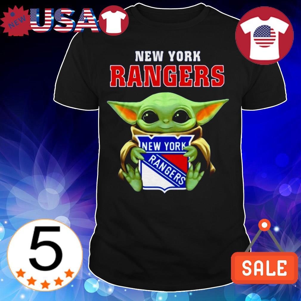 Star Wars Baby Yoda hug New York Rangers shirt