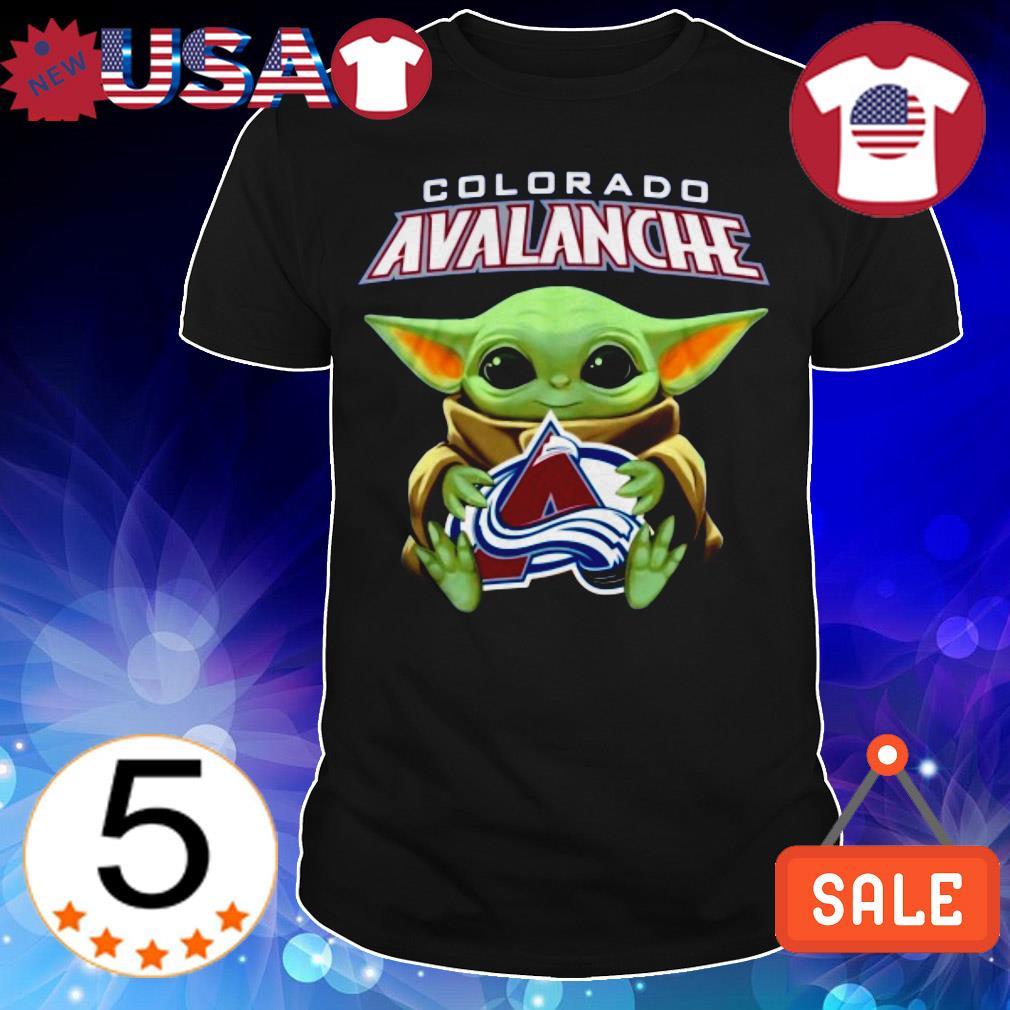 Star Wars Baby Yoda hug Colorado Avalanche shirt