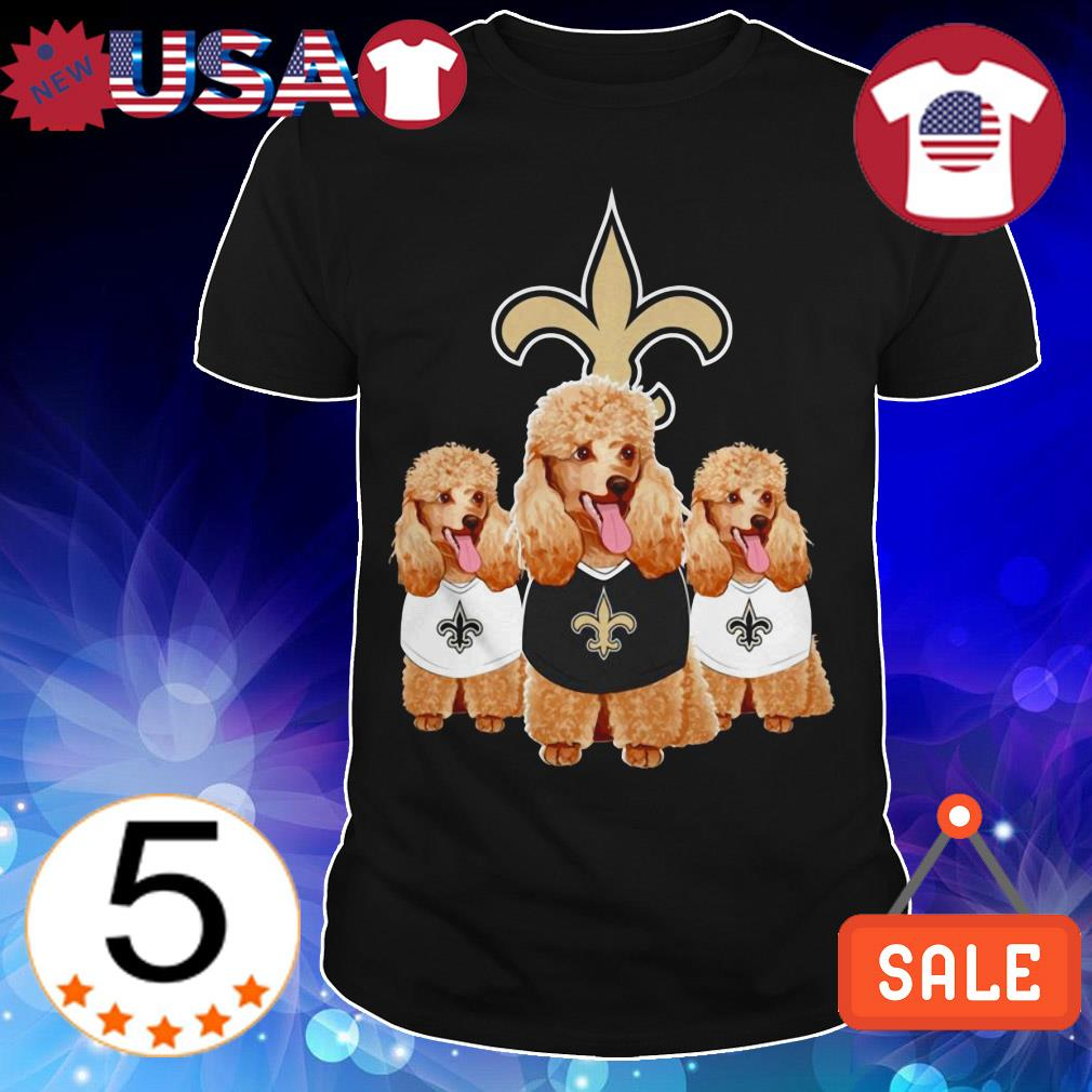 New Orleans Saints Poodle shirt