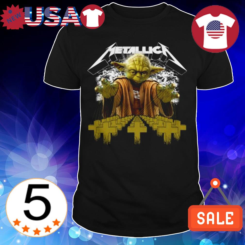 Star Wars Baby Yoda Metallica cross shirt