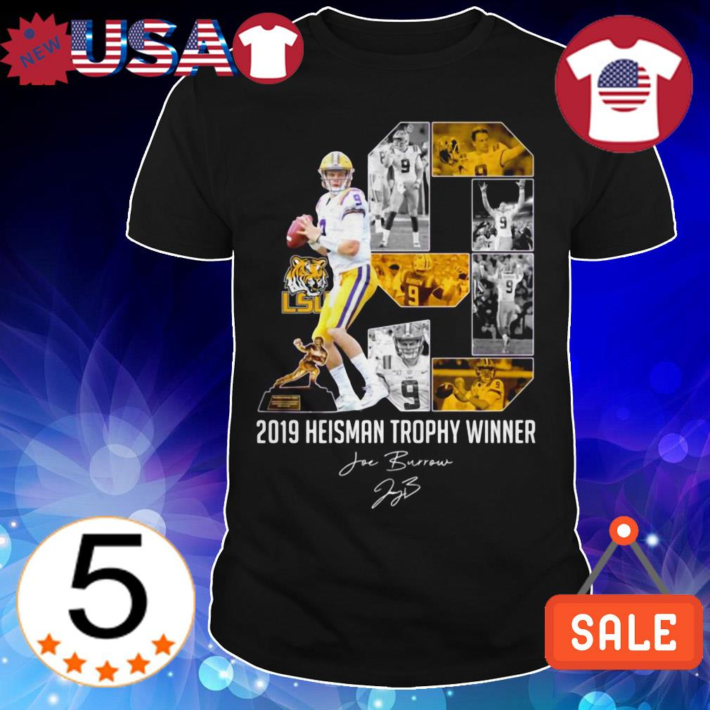 LSU Tigers 2019 Heisman Trophy Winner signature shirt