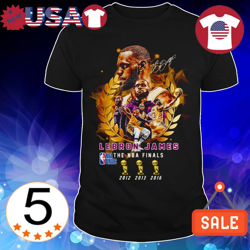 Lebron James The NBA Finals 2012 to 2016 signature shirt