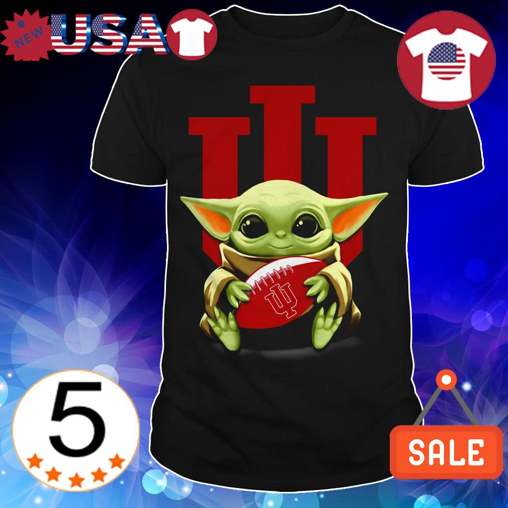 Official Star Wars Baby Yoda hug Indiana University shirt