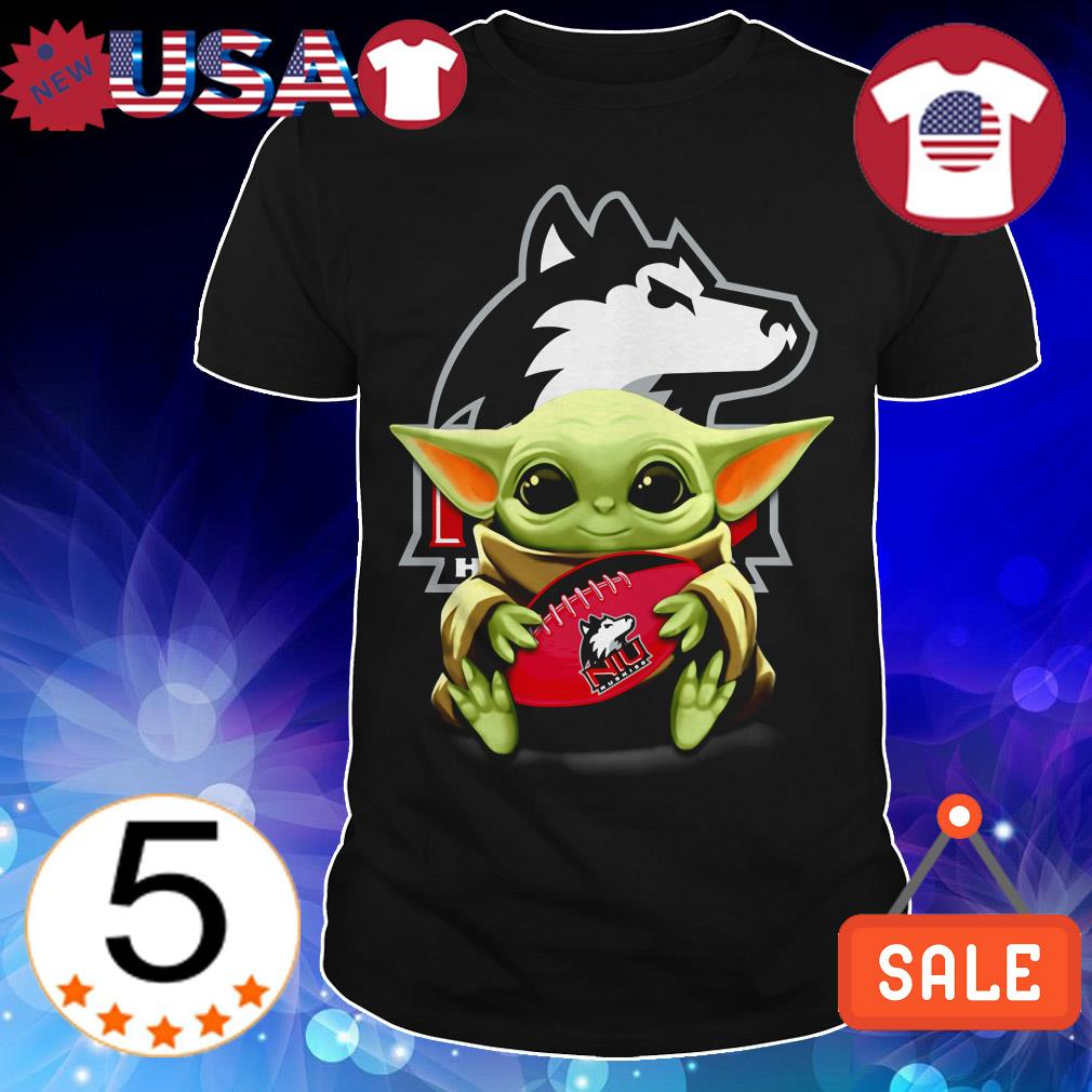 Official Star Wars Baby Yoda hug Northern Illinois Huskies shirt