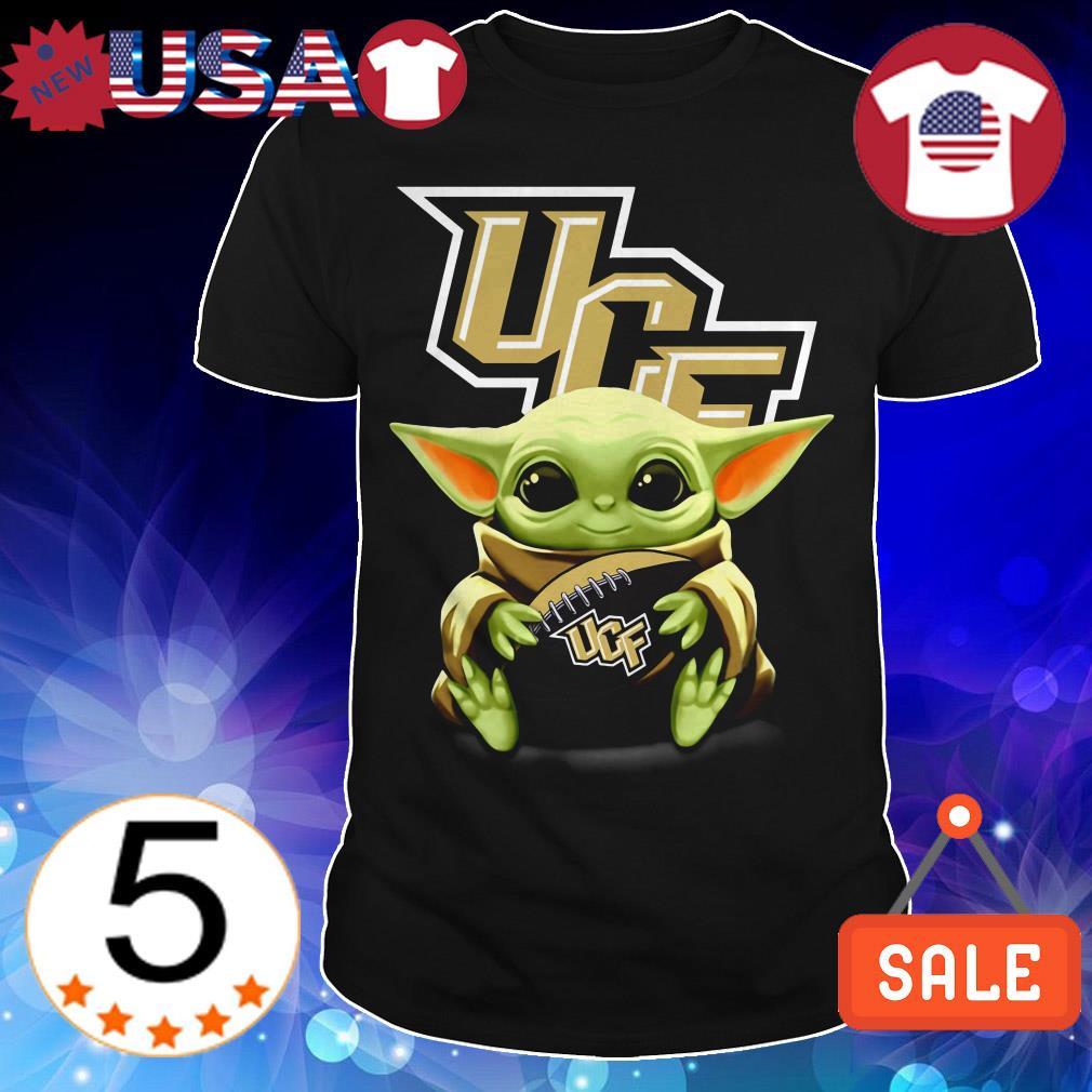 Official Star Wars Baby Yoda hug UCF shirt