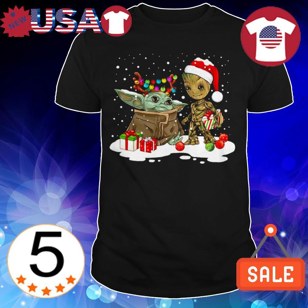 Baby Yoda and Baby Groot Christmas sweatshirt