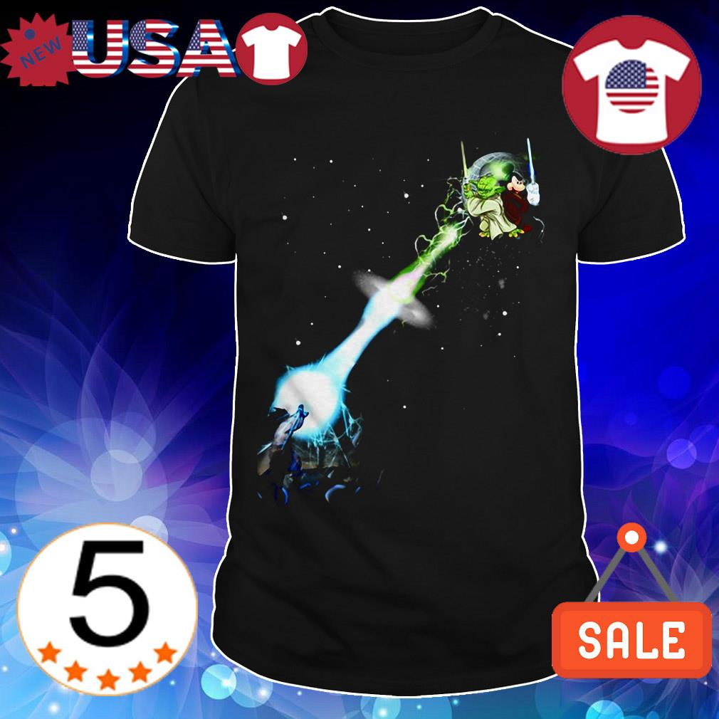 Yoda and Mickey Mouse vs Dragon Ball shirt