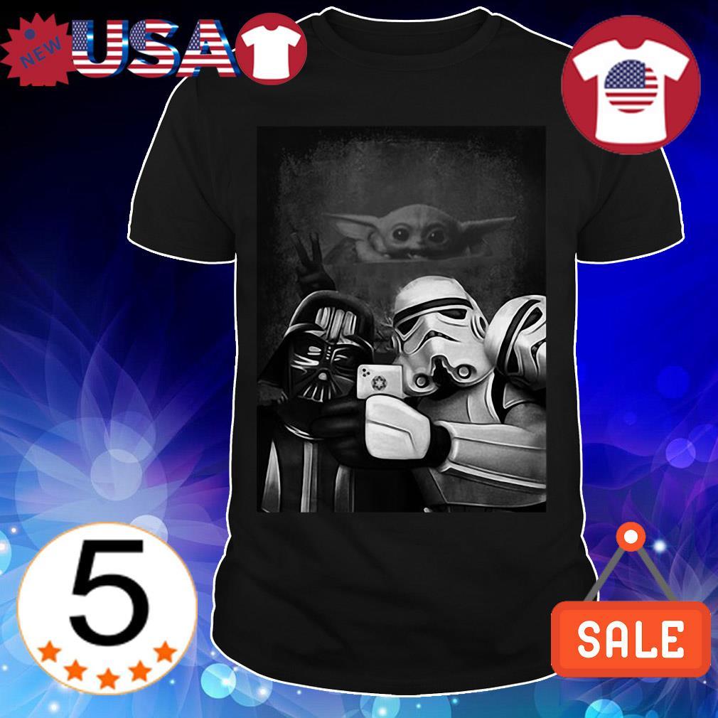 Star Wars Baby Yoda Stormtrooper and Darth Vader selfie shirt