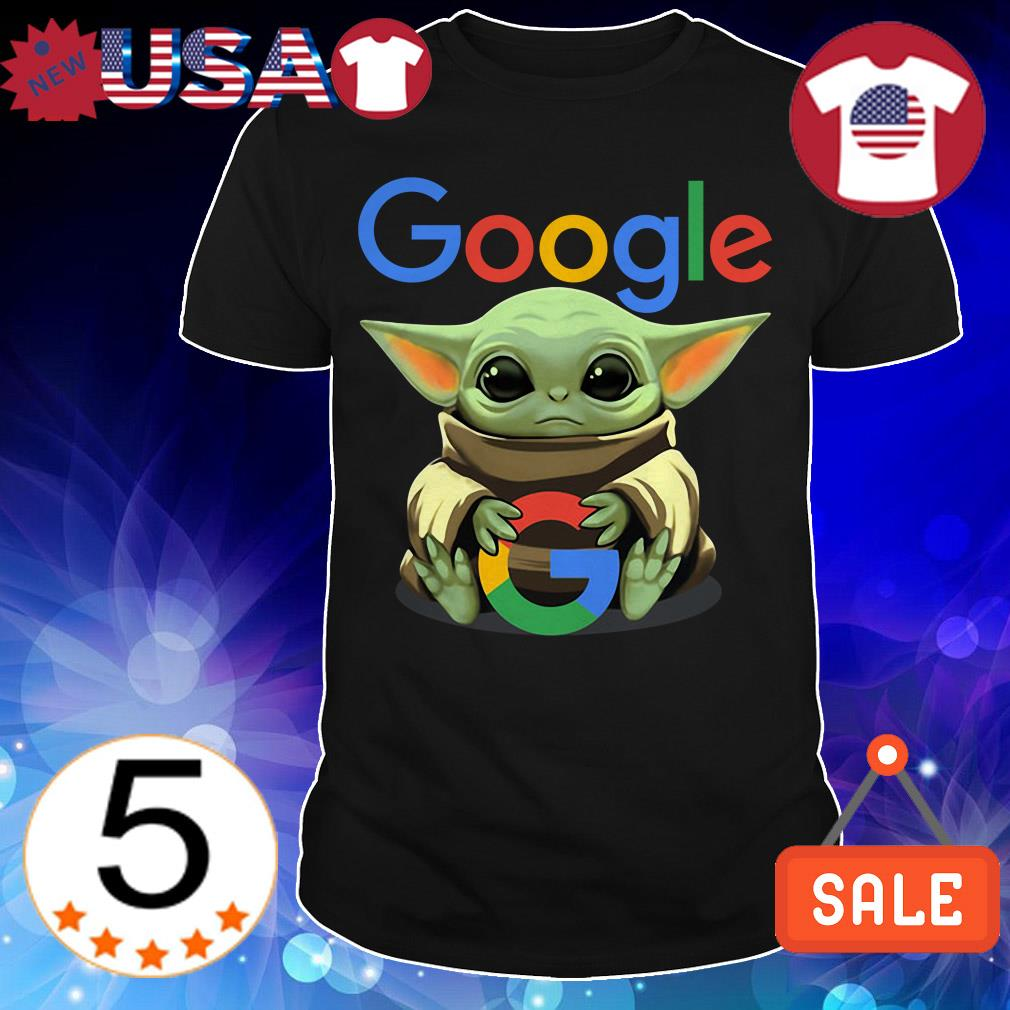 Star Wars Baby Yoda hug Google shirt