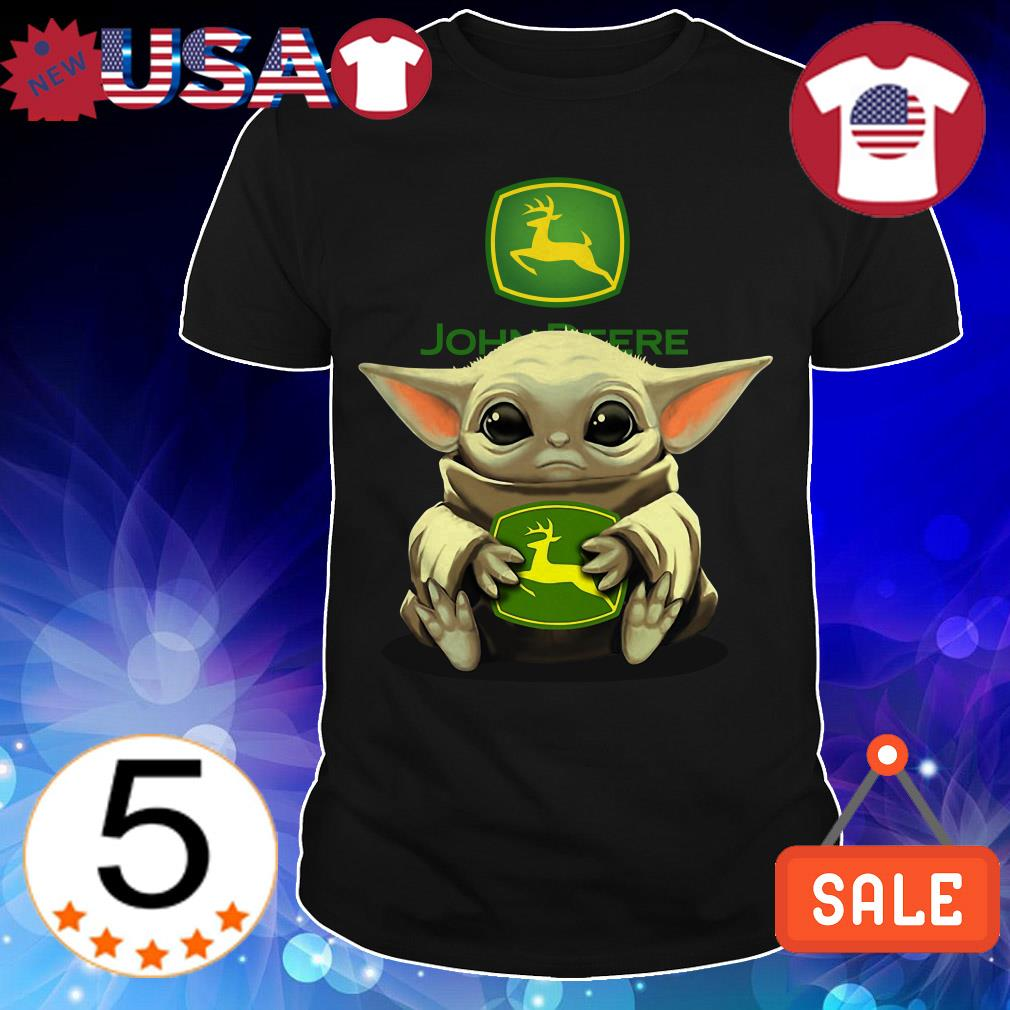 Star Wars Baby Yoda hug John Deere shirt