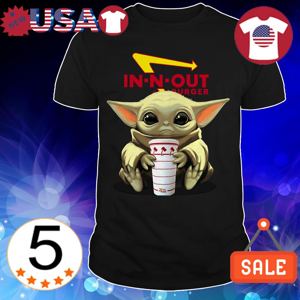 Star Wars Baby Yoda hug In n Out Burger shirt