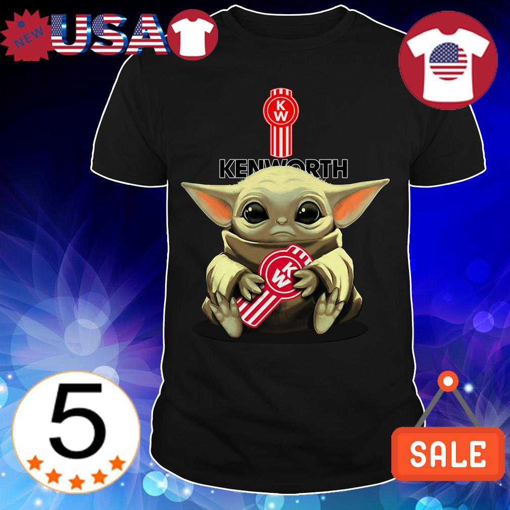 Star Wars Baby Yoda hug Kenworth shirt