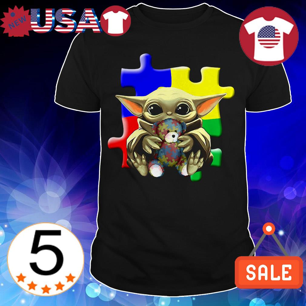 Star Wars Baby Yoda hug Autism Awareness shirt